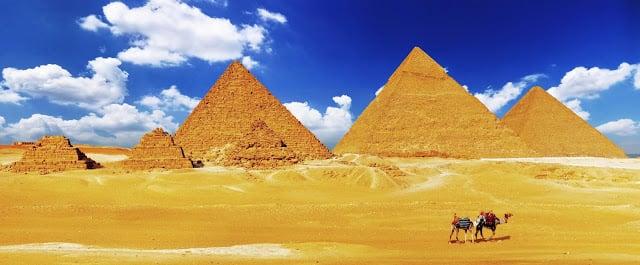 La ville de Gizeh en Égypte