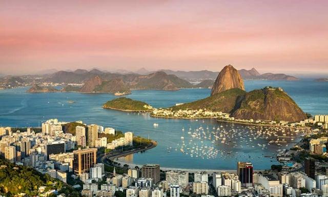 Couché de soleil sur Rio De Janeiro