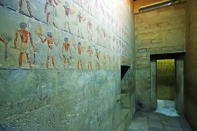 Le Temple de Saqqara en Égypte