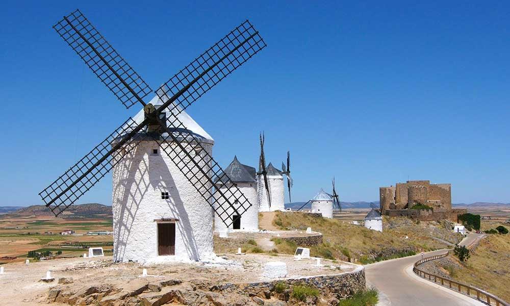 Voyages-Espagne-Castille-La Manche-Consuegra-moulins