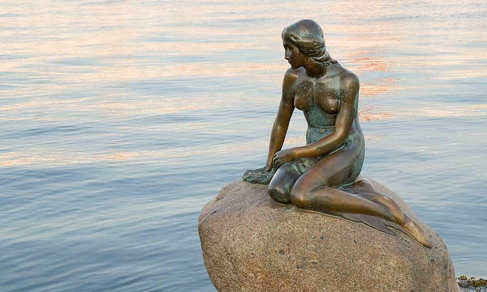 Sculpture-petite-sirene-Copenhague-Danemark