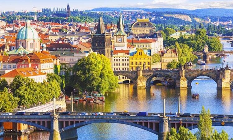 Vue sur Prague en République Tchèque