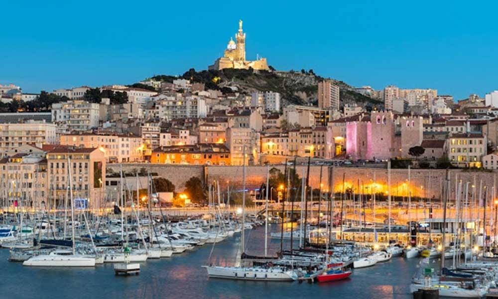 La ville de Marseille en France