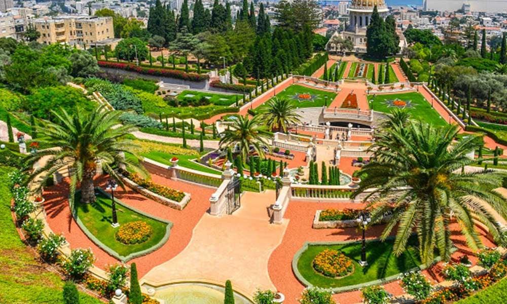 Le jardin de Bahai à Haifa
