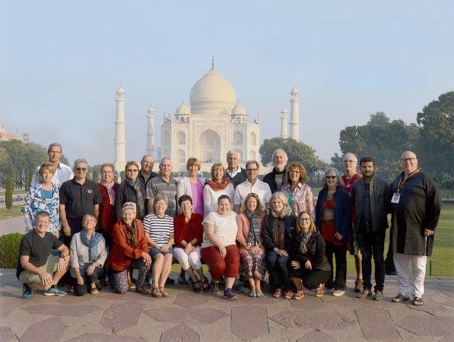 Photo de groupe en Inde
