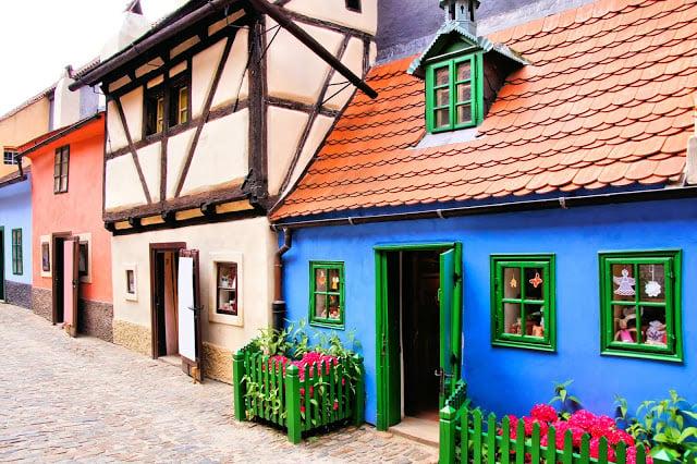 La ruelle d'Or dans le Chateau de Prague