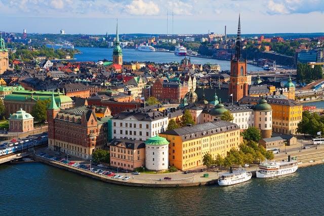 Vue de Stockholm en Suede