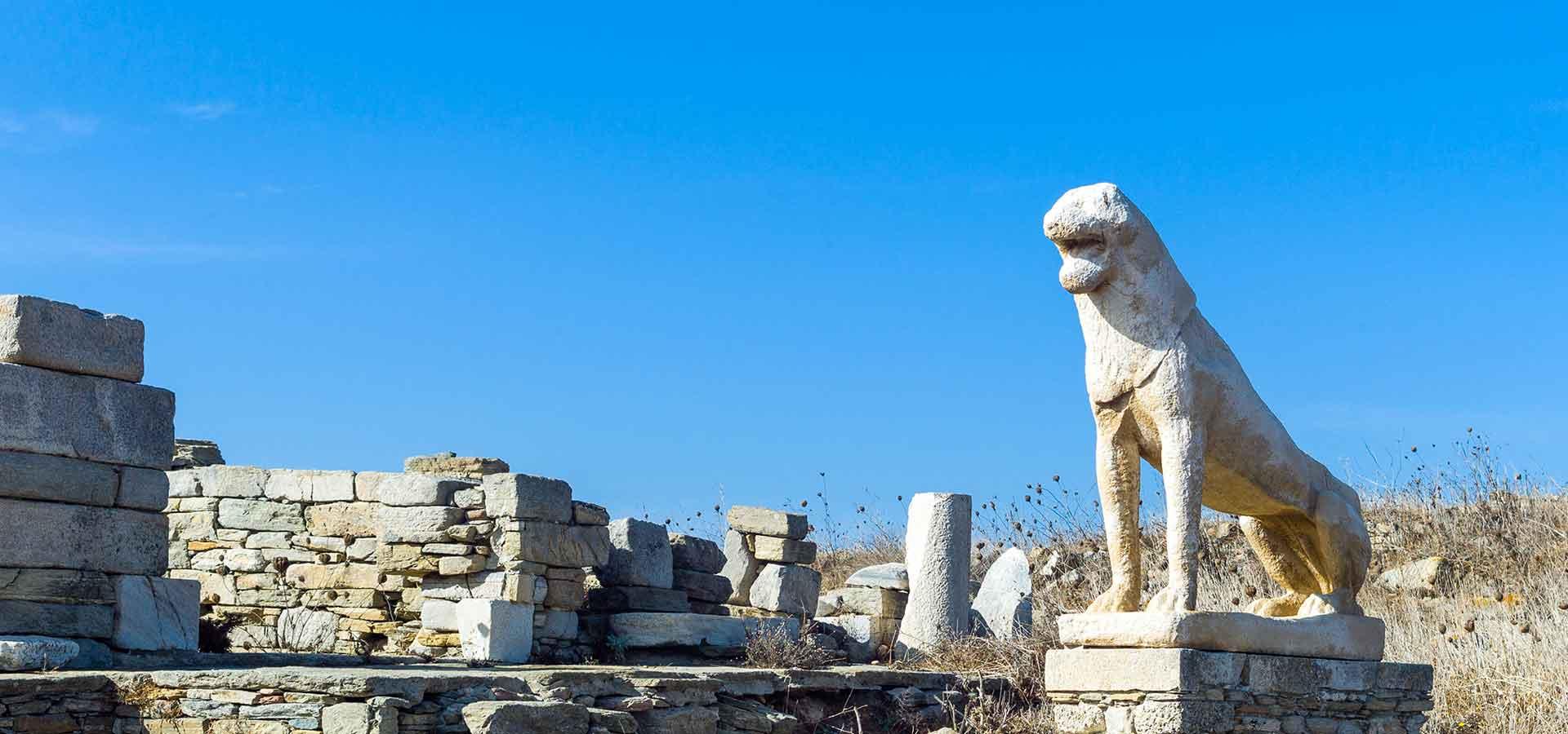 Sculptures-lions-Delos-Grece