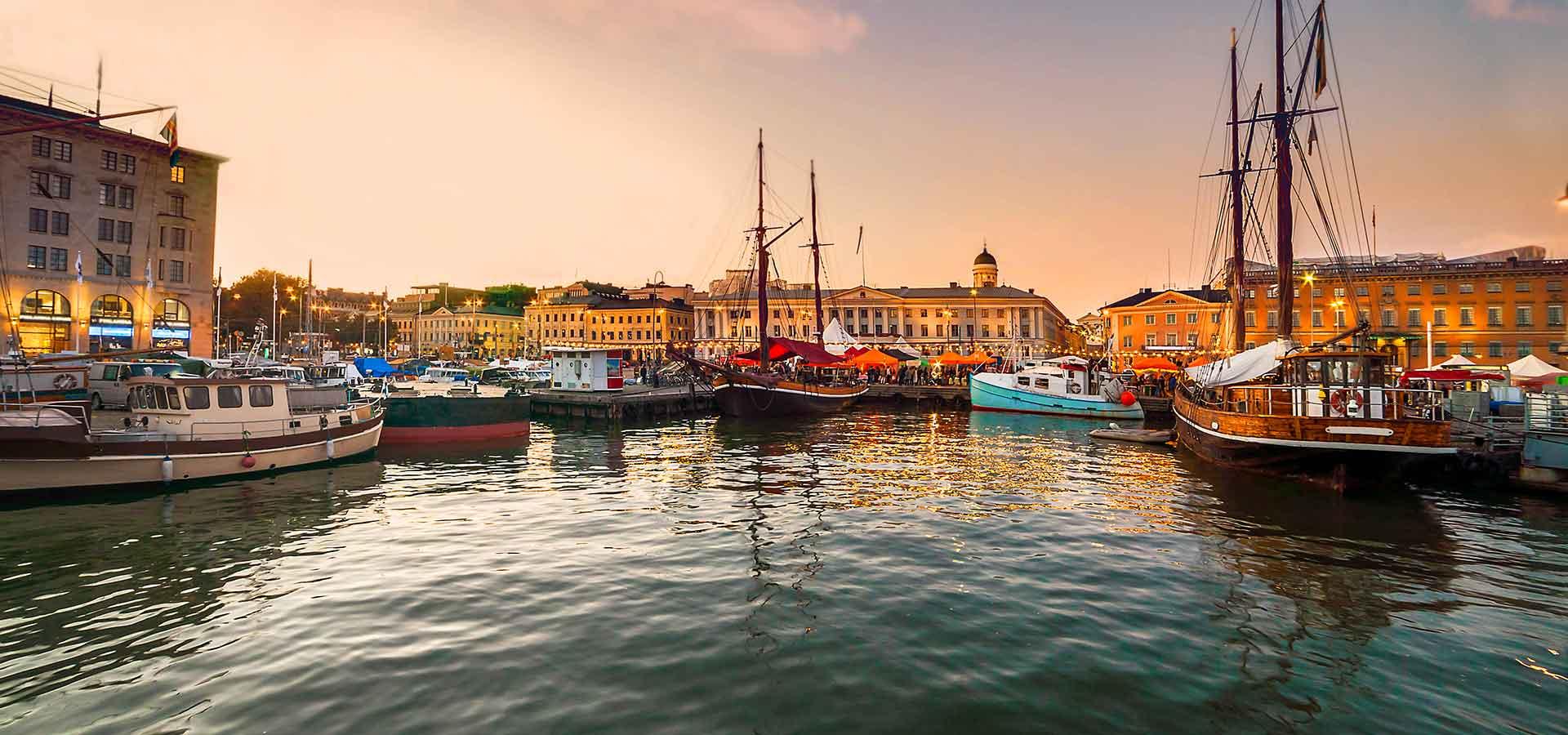 Port de Helsinki en Finlande