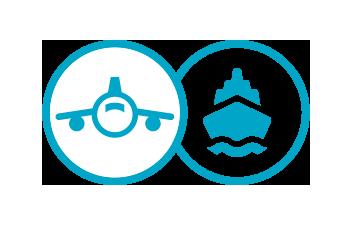Icone avion et navire